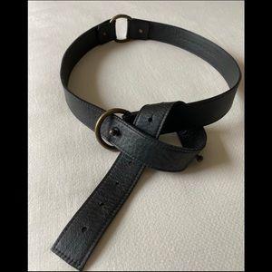 Eileen Fisher Leather Wrap Belt